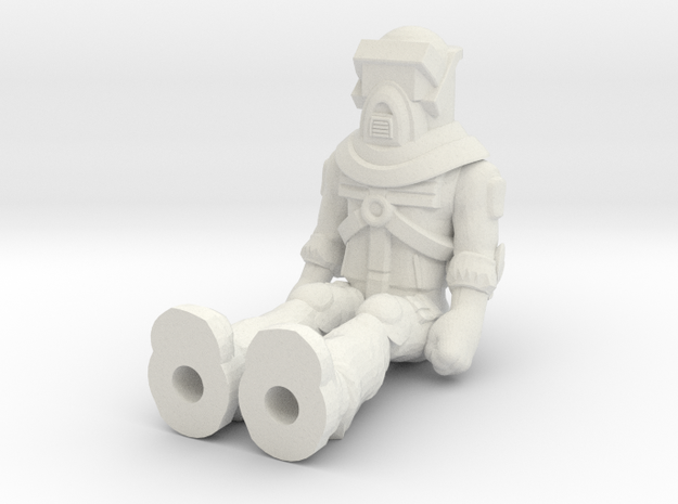 Matt Trakker, Sitting 35mm Mini  in White Natural Versatile Plastic