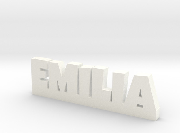 EMILIA Lucky in White Processed Versatile Plastic