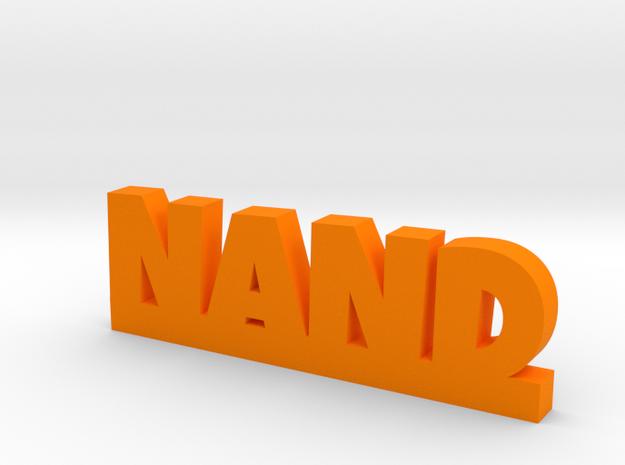NAND Lucky in Orange Processed Versatile Plastic