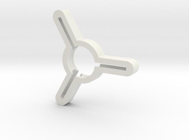Handspinner in White Strong & Flexible