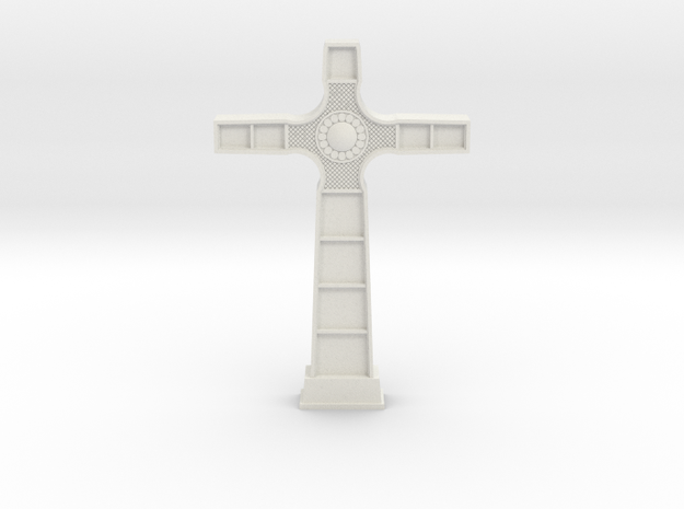 18th Century Cross in White Natural Versatile Plastic