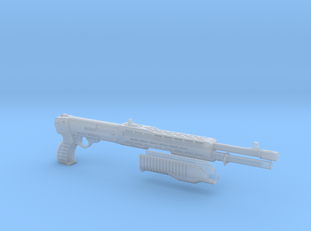 SPAS 12 1:6 scale shotgun with moveable pump