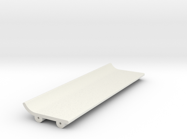 Upper Wing for Toyota GT 1 rear Wing in White Strong & Flexible