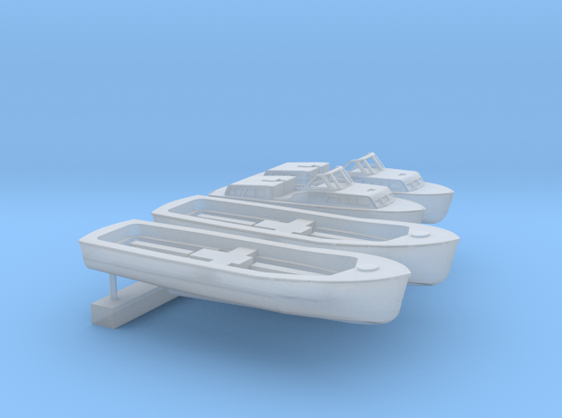 1:350 Scale Supercarrier Boat Set in Frosted Ultra Detail