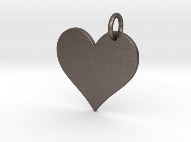 Creator Pendant in Polished Bronzed Silver Steel: Small