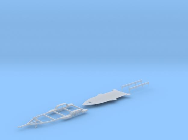 1/87 Formula-1 Speedboat Trailer