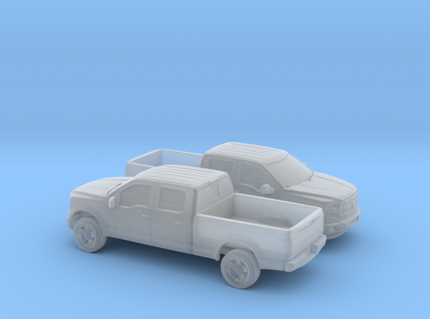 1/160 2X 2014-17 Ford F-150 Long Bed in Smooth Fine Detail Plastic