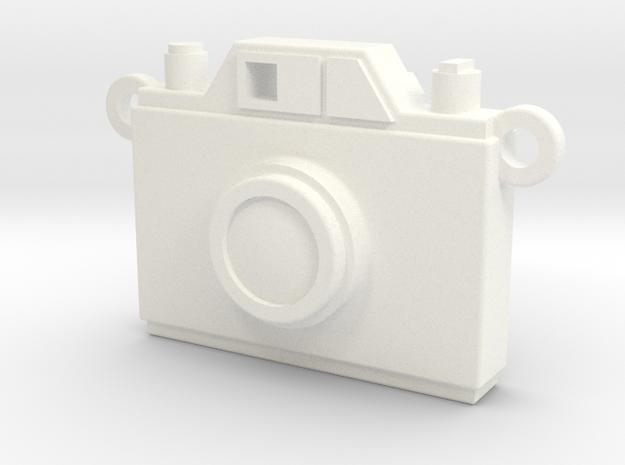 Vintage Film Camera Pendant - Modern Locket in White Processed Versatile Plastic