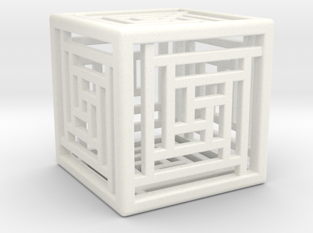 Cube Lattice in White Strong & Flexible Polished