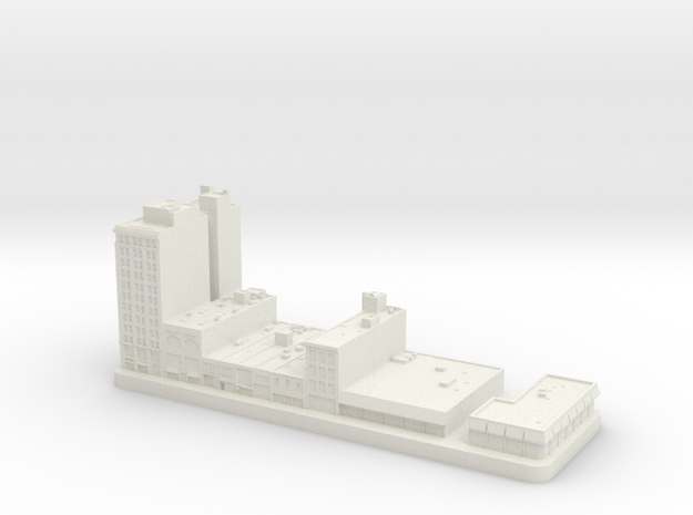1700 Market Street - Chestnut St Shops (1:2000) in White Natural Versatile Plastic