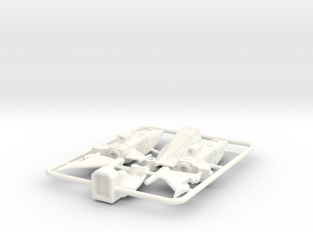 Krunky Dragon Fighter Upgrades in White Processed Versatile Plastic