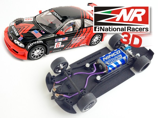 3D chassis for Fly 320i/M3 GTR (Inline) in Black Natural Versatile Plastic