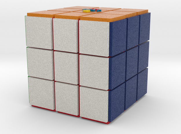 Isthata Cube in Full Color Sandstone