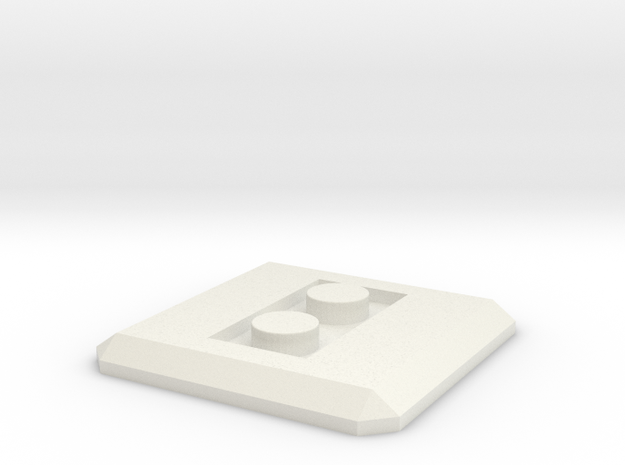 LEGO Conversion base plate (square) in White Strong & Flexible