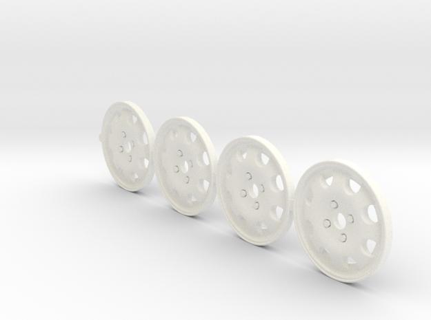 4 Tapacubos 205 Gti 19mm in White Processed Versatile Plastic