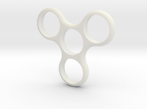 Triweighted Fidget Spinner in White Strong & Flexible