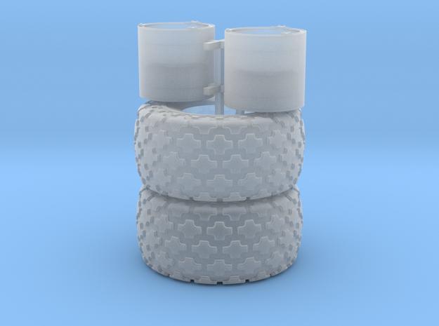 (2) 35.5-32 BUTTON TREAD TIRES & RIMS - FUD in Smooth Fine Detail Plastic
