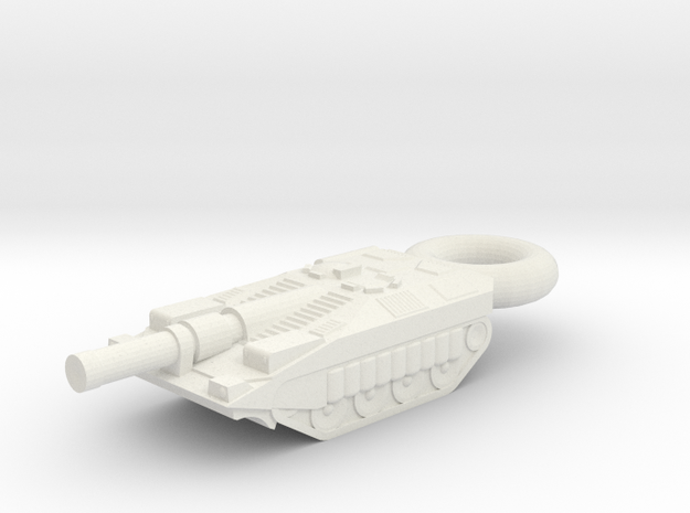 Stridsvagn 103C KEYCHAIN in White Natural Versatile Plastic