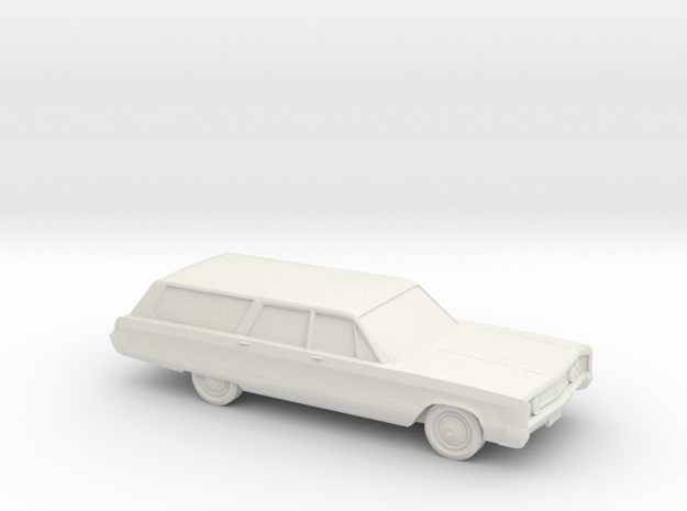 1/64 1967 Chrysler Town And Country in White Natural Versatile Plastic