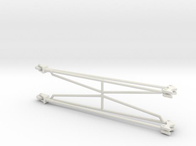 Wheelie Bars 1/8 in White Natural Versatile Plastic