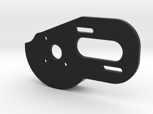 V1 TLR 3 Gear Laydown Motor Plate (with Spur Guard in Black Natural Versatile Plastic