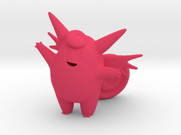 Clefable in Pink Processed Versatile Plastic