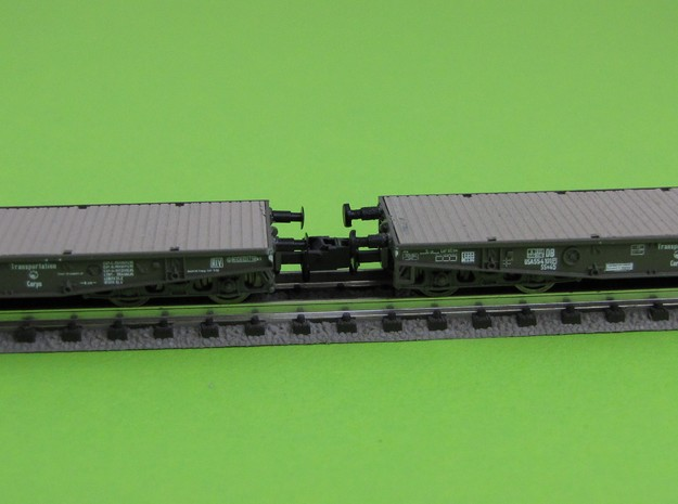 1:160 n scale buffer ROCO Flatbed Ssy in Smooth Fine Detail Plastic