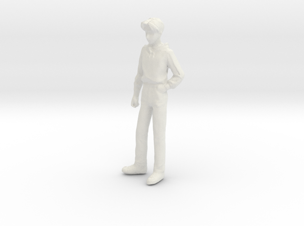 1/24 Teenager Standing in White Natural Versatile Plastic