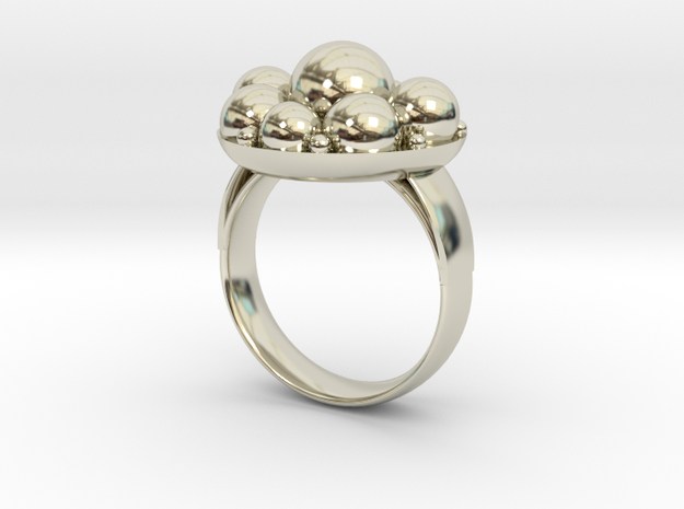 Cooling Massage Ring in 14k White Gold: 8 / 56.75