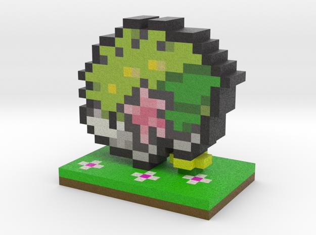 Pokemon Shaymin Pixel Art in Full Color Sandstone