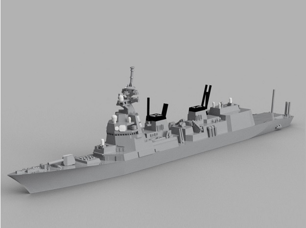 1/1800 JS Asahi-class destroyer in Smooth Fine Detail Plastic