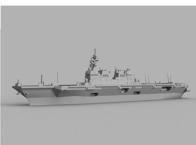 1/1800 JS Hyūga-class helicopter destroyer in Smooth Fine Detail Plastic