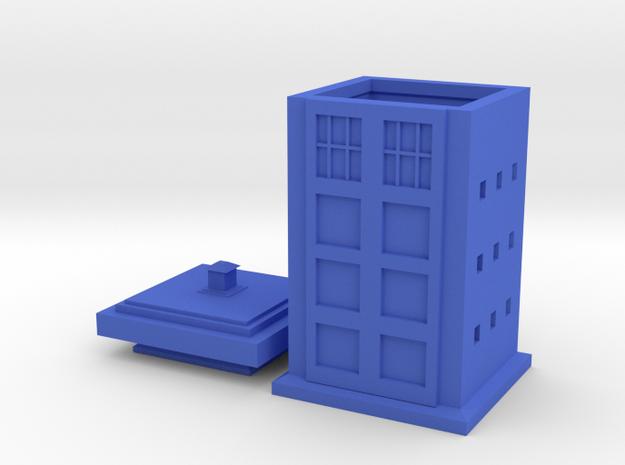 Police Box Tea Infuser in Blue Processed Versatile Plastic