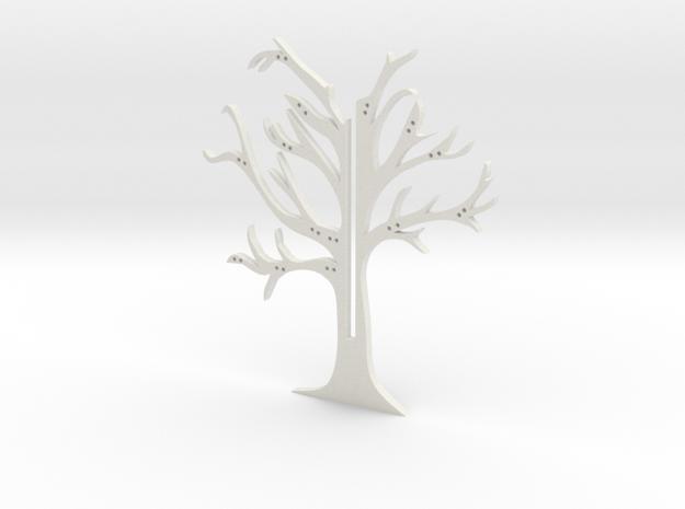 """Holder """"2d-tree-b"""" in White Natural Versatile Plastic"""