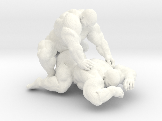 Chunky Couple in White Strong & Flexible Polished