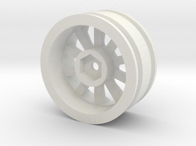 1:10 Cherokee XJ Wagoneer Wheel Hex Mount in White Natural Versatile Plastic