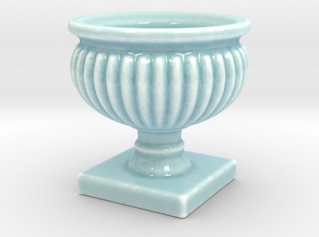 Planter Urn Hollow Form 2017-0010 Porcelain in Gloss Celadon Green Porcelain: 1:12