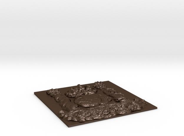 Escudo Ministerio de Hacienda  in Polished Bronze Steel