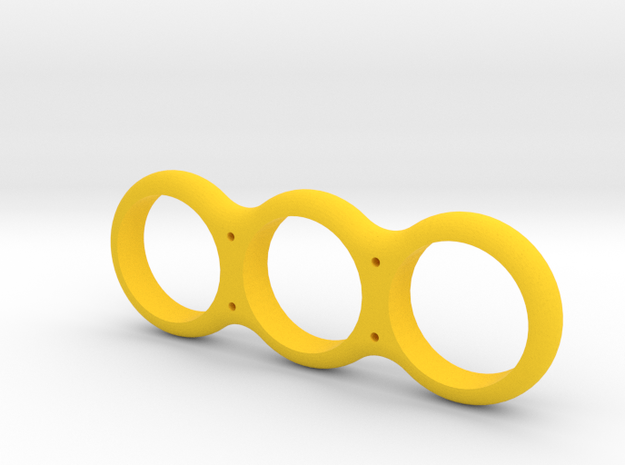Simple Fidget Spinner w/ holes in Yellow Processed Versatile Plastic
