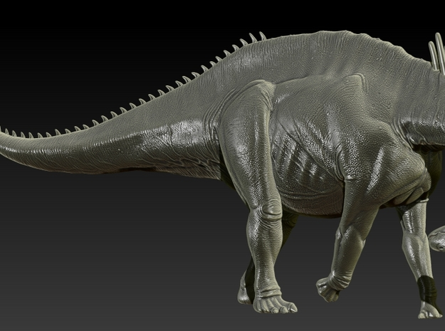 1/72 Amargasaurus - Neck Down in Smooth Fine Detail Plastic