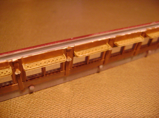 HO Pullman Parlor Car Luggage Racks Set in Smoothest Fine Detail Plastic