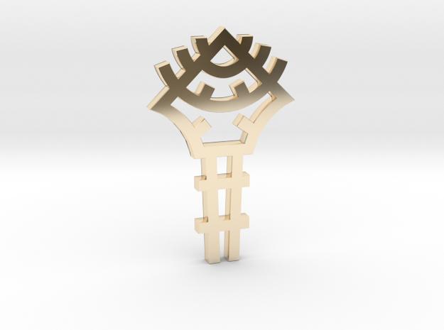 Key / Llave in 14K Gold