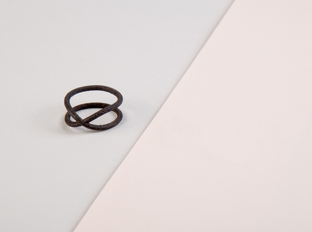 rollercoaster - external ring in Matte Black Steel: 6.25 / 52.125