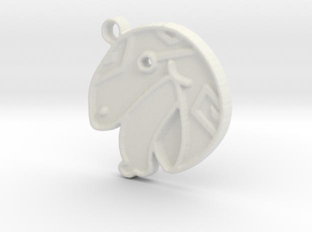 Blep Lizard Keychain in White Natural Versatile Plastic