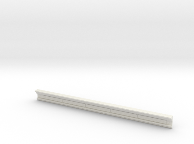 HO WCK Station Rear Upper Moulding - Shorter Lengt in White Natural Versatile Plastic