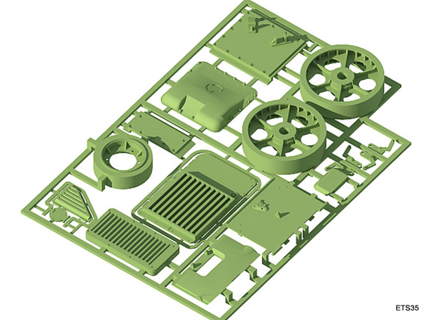 ETS35007 Renault R35 Set - 1:35 3d printed Hatches, armor and idlers (top)