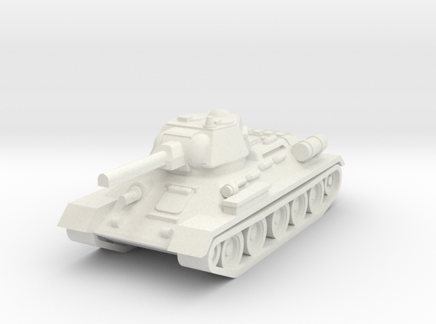 T34-76 in White Natural Versatile Plastic