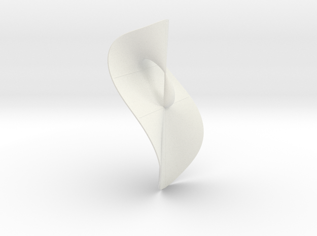 Cubic KM 32 cylinder cut with lines in White Natural Versatile Plastic