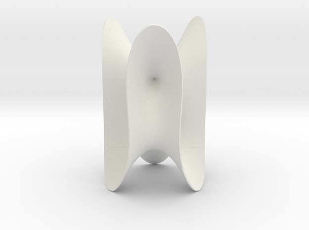 Cubic KM 35 cylinder cut with lines in White Natural Versatile Plastic