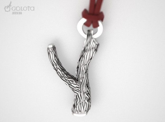 Macho Pendant (necklace of the sperm donor) in Raw Silver
